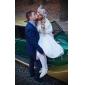 Satin Kitten Heel Ankle boots med snörning Wedding Shoes (Fler färger)