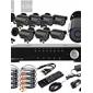 8CH D1 en tiempo real H.264 600TVL Definición CCTV DVR Kit High (8pcs impermeables Día Noche CMOS Cámaras)