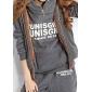 Femei Alfabet Print Suit (Hoodie, Vest și pantaloni)