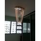 Lustre en Cristal à 3 Ampoules, Style Moderne