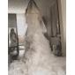 One-tier Waltz Veil With Lace Applique Edge