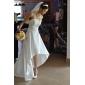 Hochzeitskleid - Elfenbein Taft - A-Linie/Prinzessinnen-Linie - Asymmetrisch - Trägerlos Übergrößen