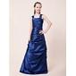 Floor-length Taffeta Junior Bridesmaid Dress - Royal Blue A-line/Princess Straps