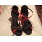 hög kvalitet satin övre högklackade latinska dansskor balsal skor för kvinnor mer färger