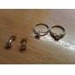 KU NIU Kvinnors Gold Plating zirkon ring J27022