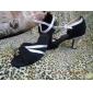satin övre dansskor balsal latinska skor för kvinnor