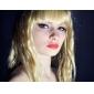 Høykvalitets syntetisk parykk med naturlig look, langt lyst krøllete hår