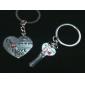 Herzförmige Schlüsselanhänger im Paar (2 Stück)