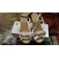 Women's Shoes Leatherette Linen Wedge Heel Sling-back Sandals With Bow For A Garden Party/Evening (More Colors)