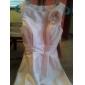 Linia -A Prințesă Bateau Neck Lungime Genunchi Tafta Rochie Domnișoară Onoare cu Flori de LAN TING BRIDE®