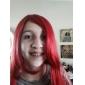 Cosplay Peruker Naruto Sarah Röd Medium Animé Cosplay Peruker 60 CM Värmebeständigt Fiber Kvinna