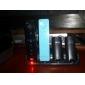4-portars USB-laddning station + 4x1800mah laddningsbara batterier för Wii / Wii U fjärrkontroll (svart)