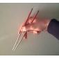 Röd Mönster rostfritt stål Chopsticks