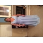 Formal Evening/Prom/Military Ball Dress - Sky Blue Plus Sizes A-line/Princess V-neck Floor-length Chiffon