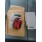 Souris Optique Sans Fil + Transmetteur USB 2.4 GHz (Red)