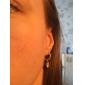 elegant hvid platin belagt med uregelmæssig form cubic zirconia øreringe