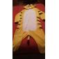Kigurumi Pyjamas Tiger Trikå/Onesie Festival/högtid Pyjamas med djur halloween Gul Lappverk Korallfleece Kigurumi För Unisex Halloween