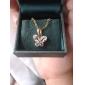 Xinxin Kvinnors 18K guld zirkon halsband D0411