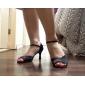 satin övre latinska balsal dansskor för kvinnor fler färger