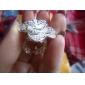 Miss u femei de argint trei straturi de flori de apel