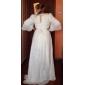 Formal Evening/Military Ball/Prom Dress - Pearl Pink Plus Sizes A-line/Princess Jewel Sweep/Brush Train/Watteau Train Chiffon