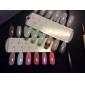 24PCS Quadrate Finger Nail Plast Nail Color Visa Card