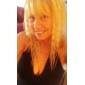 capless lang høj kvalitet syntetiske natur kig lys blond krøllet hår paryk