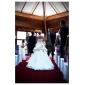 Lanting Bride® Da ballo Petite / Taglie forti Abito da sposa - Classico / Elegante e di lusso Strascico da cappella Senza spalline Raso