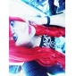 Cosplay Peruker Cosplay Tomochika Shibuya Röd Lång Animé/ Videospel Cosplay Peruker 80 CM Värmebeständigt Fiber Kvinna