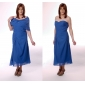 Lanting Bride® Sheath / Column Plus Size / Petite Mother of the Bride Dress - Wrap Included Tea-length Short Sleeve Chiffon withBeading /