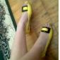simili-cuir à talons bas chaussures à bout ouvert avec un arc (plus de couleurs)