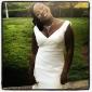 Robe de Mariage - Ivoire Sirène Col en V Tribunal Tribunal Grandes Tailles