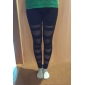 Women Cross - spliced Legging , Mesh/Cotton Medium