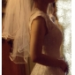 Two-tier Tulle With Pearls Fingertip Veil