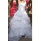 웨딩 드레스 - 아이보리(색상은 모니터에 따라 다를 수 있음) 볼 가운 바닥 길이 원 숄더 오르간자 플러스 사이즈