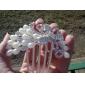 Coiffes chic et alliage de paon avec les peignes de strass / imitation perle femmes