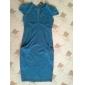 Femei Oficiul Lady V Neck Slim Dress
