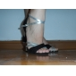 satinato superiore scarpe da ballo scarpe da ballo latino per le donne