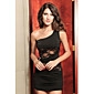 Women's One Shoulder Lace Dress , Lace/Polyester/Others Mini Sleeveless
