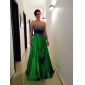 Prom/Military Ball/Formal Evening Dress - Print Plus Sizes A-line/Princess Strapless/Sweetheart Floor-length Stretch Satin