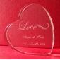 Kuchendeckel personalisierte Herzkristallkuchendeckel (mehr Designs)