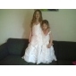 A-line/Princess Floor-length Flower Girl Dress - Organza/Taffeta Sleeveless