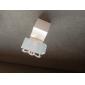 boîte blanche faveur chaise avec support de la carte place (jeu de 12)