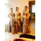 Lanting Floor-length Taffeta Bridesmaid Dress - Black Plus Sizes / Petite A-line / Princess Strapless