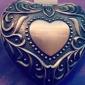 personalizzato d'epoca tutania cuore disegno della scatola di gioielli