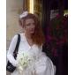 Kopfbedeckungen Tüll herrlich weiße Feder Strass für Braut