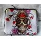 """Skull Rose Neoprene Laptop Sleeve Case for 10-15"""" iPad MacBook Dell HP Acer Samsung"""