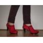 Chaussures Femme - Habillé - Noir / Bleu / Rouge - Talon Aiguille - Bottes à la Mode - Bottes - Daim