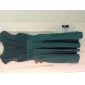 thuiskomen bruidsmeisje jurk knie lengte chiffon en satijn een lijn juweel jurk met bogen