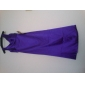 Bridesmaid Dress Floor Length Stretch Satin Sheath Column V Neck Dress